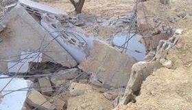 قوات الاحتلال تهدم منزل في منطقة شعب الخراب لبلدة قصرة