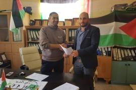 بلدية قصرة توقع اتفاقية تأهيل طرق داخلية مع شركة العسود للتعهدات والمقاولات العامة