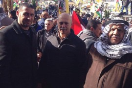 احياء الذكرى الرابعة والخمسين لانطلاقة الثورة الفلسطينية المجيدة في مدينة نابلس