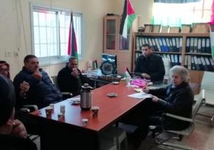 اجتماع لمجلس الخدمات المشتركة لقرى جنوب نابلس بهدف استكمال مسح واقع مجالس الخدمات المشتركة وتقييمها