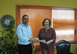 شكر وتقدير وعرفان مقدم من بلدية قصرة الى السادة جمعية عطاء فلسطين