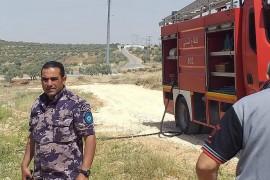 اندلاع حريق في منطقة بيار الخارجة – المدخل المؤدي الى بلدة قصرة