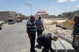 استكمال اعمال بناء حجر الشك – شارع السهل