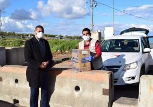 شكر وتقدير لمؤسسة الرؤية العالمية لتبرعهم للمرة الثانية بمواد ومعقمات تنظيف للبلدية